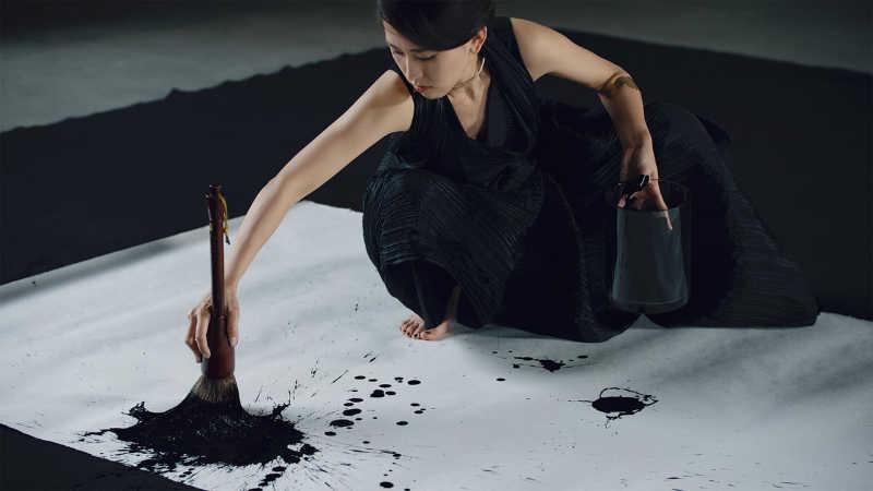 L'artiste calligraphe Aoi Yamaguchi
